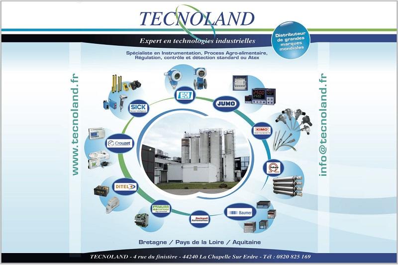 Aperçu de la gamme de produit que propose Tecnoland, un distributeur de matériel d'instrumentation et d'automatisme industriel