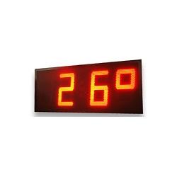 photo contractuelle afficheur industrielle numérique dmr60 de la marque ditel 60cm hauteur de caractère pour visibilité à très longue distance