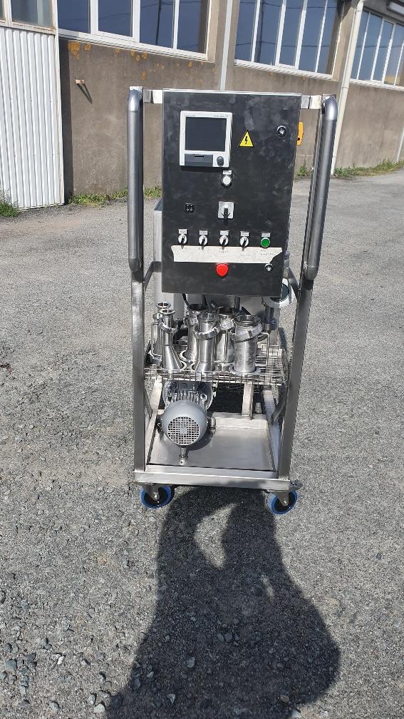 Panneau de Contrôle du SKID préparé par Tecnoland avec des débitmètres massiques et électromagnétiques Endress Hauser
