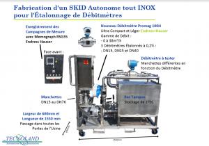 Maquette du Skid Autonome tout INOX pour les Laiteries