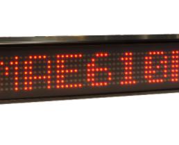 Afficheur graphique 1 ligne monocouleur DMAE610 7x64 pixels Diteltec