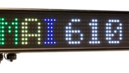 Afficheur graphique 1 ligne RGB DMAI610C Ditel (7x55 pixels)
