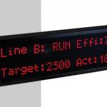 Afficheur alphanumérique Caractère de 5cm 2 lignes