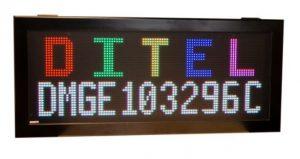 Afficheur matriciel RGB DMGE103296C Diteltec utilisation en extérieur avec hauteur de caractères jusqu'à 320 mm