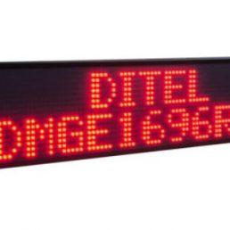 Afficheur matriciel DMGE1696 Ditel monocouleur de 16x96 pixels pour une utilisation en extérieur sur 1 ou 2 lignes