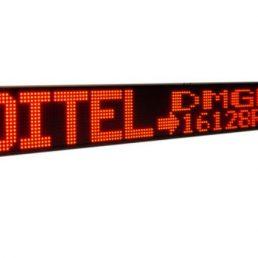 Afficheur Matriciel DMGE16128 Ditel monocouleur sur 1 ou 2 lignes 16x128 pixels