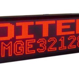 Afficheur matriciel monocouleur DMGE32128R Ditel sur 1, 2 ou 4 lignes pour une utilisation en extérieur
