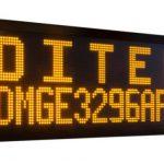 Afficheur matriciel DMGE3296C Ditel monocouleur 32x96 pixels sur 1 ou 2 lignes avec une hauteur de caractère de 80mm ou 160mm
