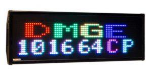 Afficheur matriciel RGB DMGE101664CP Diteltec de 16x64 pixels pour une utilisation en extérieur