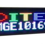 Afficheur matriciel DMGE101696C Ditel RGB avec une hauteur de caractère de 80mm ou 160mm