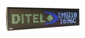 Afficheur matriciel Diteltec DMGI101696C RGB sur 2 lignes pour une utilisation en extérieur de 16 x 96 pixels