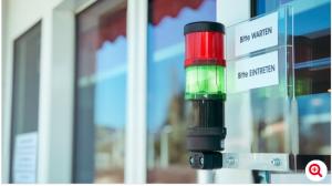 Colonne lumineuse SignalSET Werma pour Contrôle d'accès facile, rapide, sûr et explicite