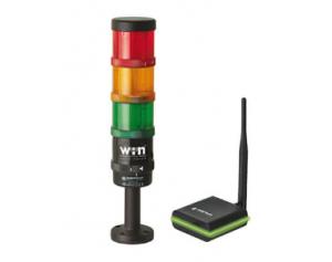 Colonne lumineuse SmartMONITOR Werma pour solution de surveillance des machines équipée de colonnes lumineuses à LED