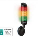 Colonne lumineuse CleanSIGN Werma pour une utilisation dans les secteurs de l'hygiène, agroalimentaire ou pharmaceutique